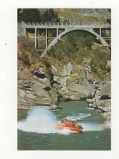 Queenstown Shotover Jet Boat & Edith Cavelll Bridge New Zealand Postcard 643a