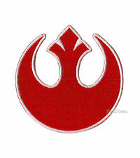 NEW STAR WARS MOVIE RED REBEL ALLIANCE LOGO Embroidered  IRON ON Patch Badge