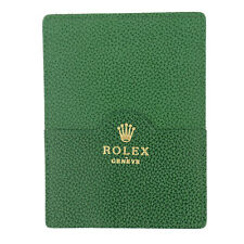 ROLEX GENEVE GREEN LEATHER CARD HOLDER