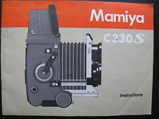 Genuine Mamiya C330 S Tlr Owners Instruction Manual
