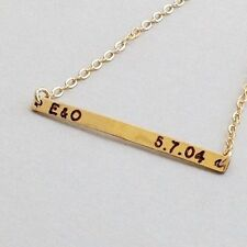 Nameplate necklace, gold necklace, personalized necklace, Handmade, b024