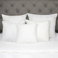 Down Alternative Polyester Square Euro Throw Bed Pillow Insert 2 Pack USA Made