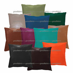 pe+11 Colors Faux Leather Classic Pattern Cushion Cover/Pillow Case Custom Size