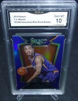 2014-15 Select T.J. Warren Blue Prizm Rookie Card 76/249 GMA Graded Gem Mint 10