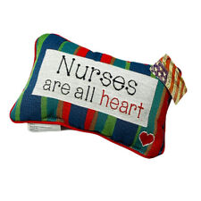 Nurses Are All Heart Healthcare Workers Rectangular Tapestry Word Pillow