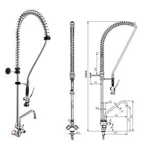 Geschirrbrause Pendelbrause+Mischbatterie Wasserhahn Gastrobrause