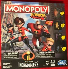 Monopoly Junior Game Disney Pixar Incredibles 2 Edition