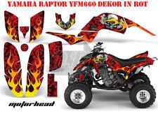 AMR RACING DEKOR GRAPHIC KIT ATV YAMAHA RAPTOR 125/250/350/660/700 MOTORHEAD B