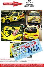DECALS 1/18 REF 854 FIAT 600 SEICENTO BASSO RALLYE MONTE CARLO 1999 RALLY WRC