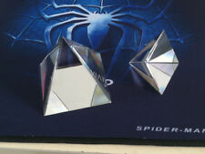 80mm Optical Glass Crystal Pyramid Prism Science Optics Experiment Instrument