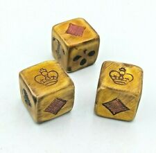 More details for trio of crown & anchor & 4 suits set of dice. face diameter 15mm.