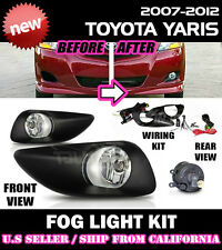 2007-2012 TOYOTA YARIS Fog Lights Driving Lamp Kit w/ switch wiring (CLEAR)