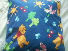 "NEW Made in Uk Cushion Cover Disney Winnie the Pooh & Piglet too for 22"" Blue"