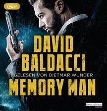 + Baldacci David : Memory Man 2er MP3 HörBuch NEU Gekürzte Lesung Dietmar Wunder