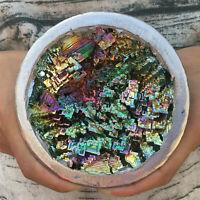 1PC Bismuth ore bowl quartz crystal cluster mineral specimen reiki healing 800g+