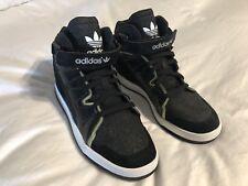 Adidas Sparkle Black Gold Women's High Top Sneakers shoes Sz 8.5 EUC!