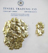 36pc Vintage/Antique Gold 3 Leaf Clover Dresden Diecut Scrap St Patrick's Day