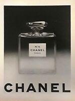 """vintage 1951 print ad CHANEL NO.5 PARIS large 10"""" X 14"""" France MID CENTURY ART"""