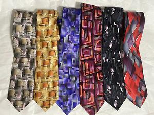 Lot of 6 J. Garcia Jerry Garcia Grateful Dead Limited Edition Silk Neckties Ties