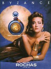 Publicité ancienne Parfum Byzance Rochas non parfumé