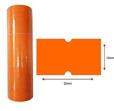 Orange Price Labels 22x12mm 10k Pcs 10 Rolls Hole Price Gun Lynx CT1 Puma Motex