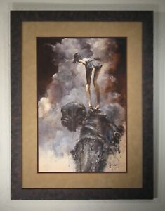 """Ashley Wood - """"There"""" - 2012 - Framed by Furthur Frames - Pro pack/ship/ins."""