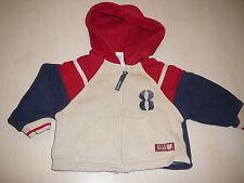 C & A hübsche Swet Jacke Gr. 68 / 74 beige-rot-blau !!
