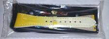 NWT - GLAM ROCK  LEATHER WATCH STRAP/BAND Yellow 22 mm