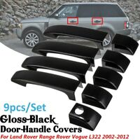 Gloss Black Door Handle Cover w/ Key Hole For Range Rover Vogue L322 2002-2012