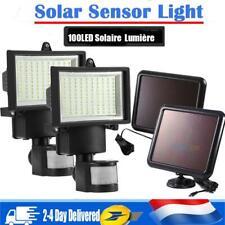100-120LED Lampe Solaire Projecteur Détecteur Mouvement Jardin Extérieur Étanche