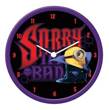 "OFFICIAL NEW 10"" DESPICABLE ME 2 CHILDRENS DRACULA MINION WALL CLOCK BEDROOM"