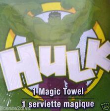 MARVEL MAGIC TOWEL! THE HULK! 100% COTTON! MARVEL COPYRIGHT! 1 WASHCLOTH!