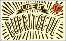 CHIPOTLE USA MEXICAN CUISINE LIFE IS BURRITOFUL #6099 COLLECTIBLE GIFT CARD