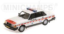 155171498 MINICHAMPS 1:18 Volvo 240 GL 1986 Dutch Police Car model cars