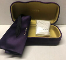 😎 NEW Authentic GUCCI Large Purple 🕶Sunglasses Case +Pouch +Cleaning Cloth