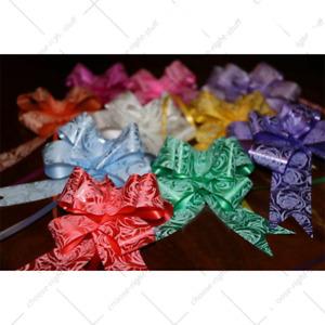 10 Pull Bows 30MM Wedding Car Gift Wrap Ribbon Florist Pew Xmas Decorations all