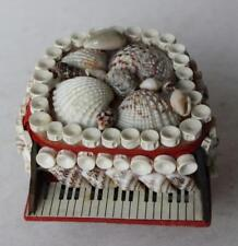 Piano Real Natural Sea Shell Jewelry Trinket Box Nautical Home Decoration-Piano