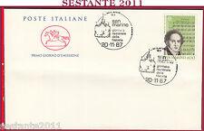 ITALIA FDC CAVALLINO SAN MARINO GIORNATA NAZ. FILATELIA 1987 ANNULLO MILANO Z651