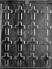 R004 Bite Size Crosses Chocolate Candy Soap Mold with Instructions