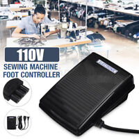 110V Home Sewing Machine Foot Control Pedal w/ Power Cord Sewing