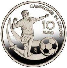 European Football Champion Proof Silver Coin 10 euro Spain 2012