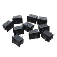 10 Pcs SPST Mini Negro 2 Pin Balancin Interruptor AC 125V 10A 250V 6A O2D7