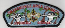 CSP Okefenokee Area Council SE GA S-4a Lt Blue Bkg Gld/M SE 700538