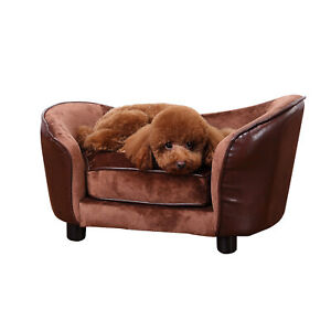 Luxury Small Dog Sofa Pet Puppy Cat Chair Warm Cushion Lounge Couch