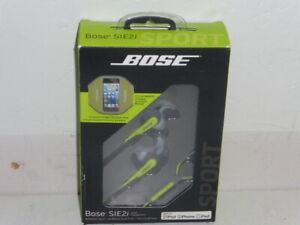 Bose sie2i SoundSport In-Ear Headphones w/Microphone StayHear Green Apple Device