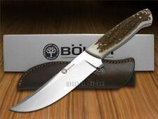 Boker Arbolito Fixed Blade Skinner Knife Full Tang Deer Stag 02BA309H
