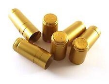 N°100 CAPSULE in PVC TERMORETRAIBILI 34x53 per champagnotte/emiliane colore oro