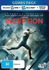 INCEPTION - BRAND NEW & SEALED R4 DVD + BLU RAY + DIGITAL COPY (LEO DICAPRIO)
