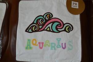 "Pottery Barn Teen Astrology Organic pillow case 12x12""~ Horoscope ~ Aquarius"