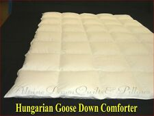 TWIN SIZE HUNGARIAN GOOSE DOWN COMFORTER - WARM 850-900 FILL POWER